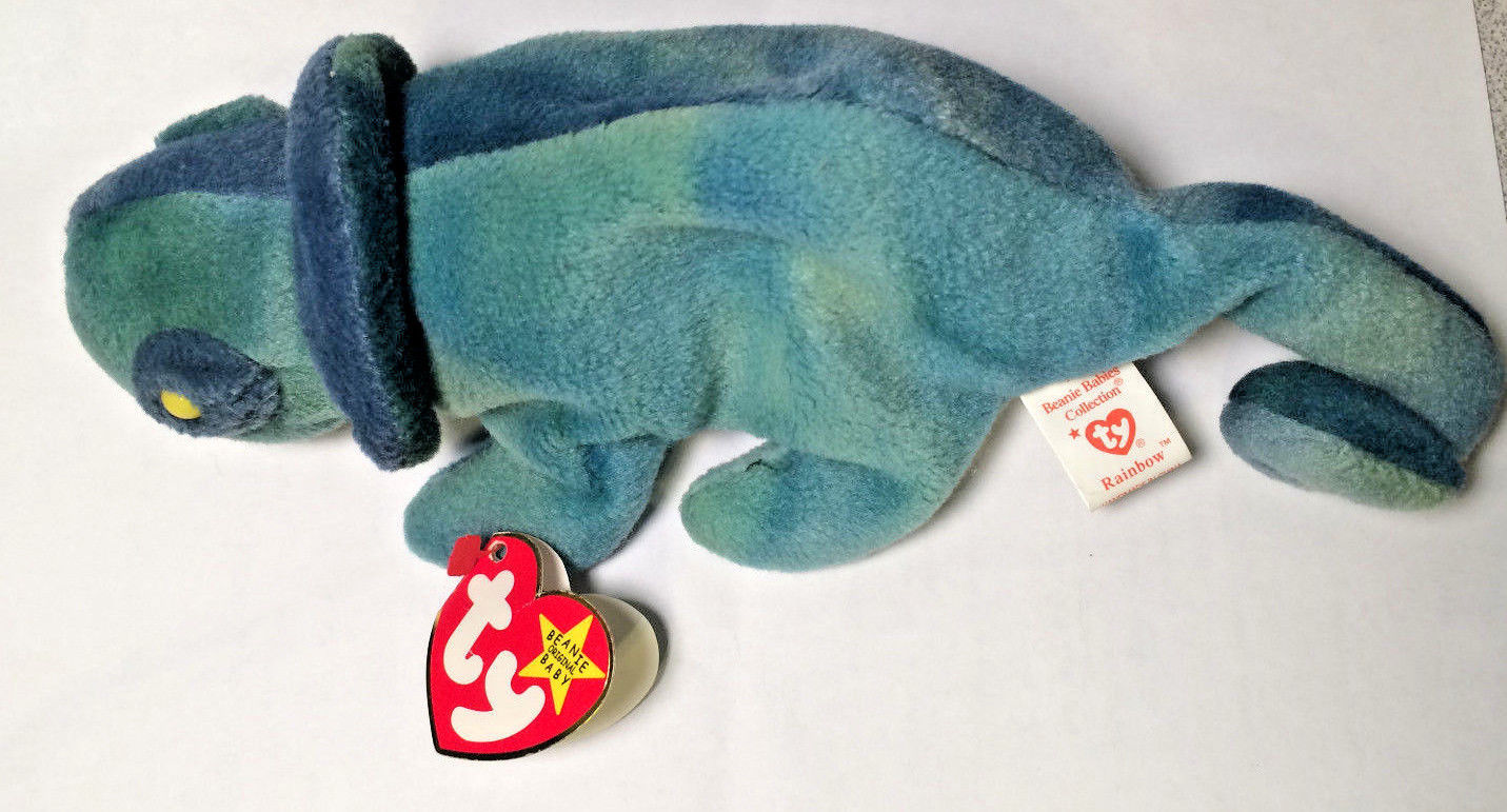 "1997 Rare Ty ""Rainbow"" in Error Actual IGGY Beanie-Babies Retired Errors"