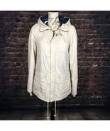 Billabong Womens Jacket Hooded Button Down Full Zip Cinched Waist Utilit... - $73.26