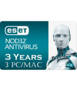 ESET NOD32 Antivirus 2019 -3 Computers 3 years - Instant Delivery via Email - $18.71 CAD