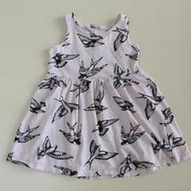 H&M Little Girls 2-4 Years Bird Sparrow Sleeveless Tank Dress Pink Black... - $9.87