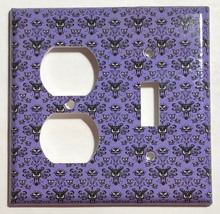 Haunted Mansion purple wallpaper Light Switch Outlet wall Cover Plate Home Decor image 3