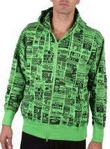 Corner Store Hero Green Hooded Sweatshirt Zip Up Hoodie Sweater Sex Ad NWT