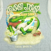 Mens Large Gray Ron Jon Surf Shop Cocoa Beach Florida Sleeveless Tee T-S... - $14.54