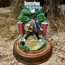 Franklin Mint Elvis Presley Graceland Love Me Tender Music Box Glass Dome Figure image 5