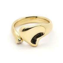 Tiffany & Co. Peretti Diamond Full Heart 18k Yellow Gold Open Ring Size 6 - $1,200.00