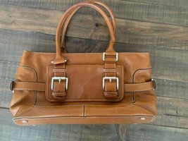 Michael Kors Brookville Handbag Brown Genuine Leather - $19.97