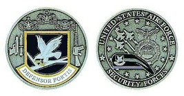 AIR FORCE SECURITY FORCES DEFENSOR FORTIS  CHALLENGE COIN - $17.09
