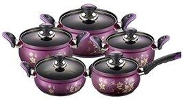 PN Fosya Violet Kitchen Stockpot Cookware Sets Multipot Lightweight Aluminum (Co