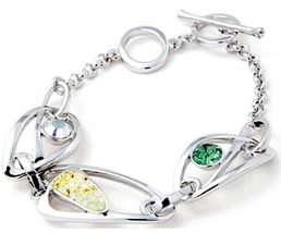 Authentic Swan Signed Swarovski Arissa Bracelet 1515447 - $59.00