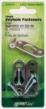New! Hillman AnchorWire Steel Keyhole Picture Hanger 2 pk 122211 - $4.71