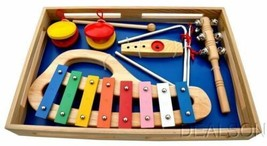Kids Assorted Musical Instruments Band In A Box I By Schoenhut BB0110 - $39.99