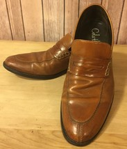 Size 9.5 COLE HAAN Caramel Brown Leather Penny Loafers With Athletic Fle... - $56.73