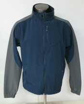 Black Diamond Softshell Jacket Mens Large L Blue Gray Full Zip Polyester - $19.79