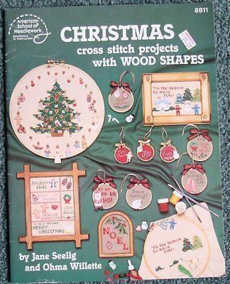 "Cross Stitch Pattern Leaflet "" CHRISTMAS PROJECTS""  Used"