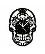 Skull Wall Clock Floral Candy Rock Decor Reloj De Pared Con Forma De Cal... - $43.54