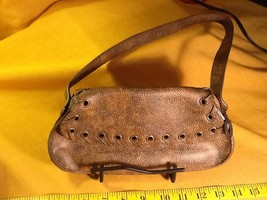 Vintage Steve Madden Small Brown Faux Leather Shoulder Bag - Excellent - $14.85