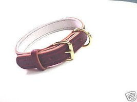 1 1/4 LEATHER COLLAR POLICE K9 SCHUTZHUND CUSTOM MADE SIZE COLOR ETC - $24.31