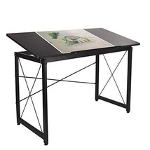 """H&A 47""""x 24"""" Tiltable Drawing Desk Drafting Table Wood Surface Craft Sta... - $124.88"""