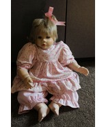 "Holly Hunt beautiful realistic Girl Baby Doll Blonde hair 18"" long joint... - $29.95"