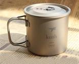 350ml/71g Titanium Folding Portable Mug Cup Travel Hiking Camping Outdoor KS811