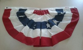 """SET OF 2 Valley Forge Flag 32""""x 17"""" approx. Pleated Fan Flags.. made in ... - $17.99"""