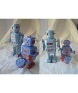 2 ROBOT IN LATTA SERIGRAFATA MODELLI MS 646 E MS 514 CARICA A MOLLA anni... - $47.02