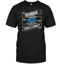 Funny English Teacher Shirt Grammar Police Serve & Correct - $17.99