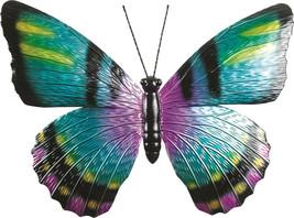 """Stunning 18.5"""" Wide Metal Butterfly Design Wall Art"""