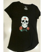 No Boundaries Skull Día de los Muertos Day of the Dead Shirt Top Small S... - $19.75