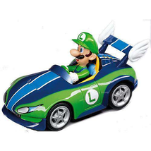 "Nintendo Mario Kart - Luigi Figure on the Wild Wing Pull Back Action 4"" Car - $18.89"