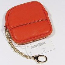 Neiman Marcus Women's Coin Purse/Wallet W/Attached Chain Lobster Hook.Orange.NWT - $23.38