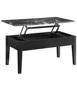 Coffee Table Dorel Living Room Faux Marble Lift Top Storage Square Cente... - $254.32