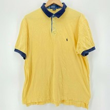 Polo Ralph Lauren Polo Shirt Men's XL Yellow Short Sleeve Collared Pony ... - $18.49