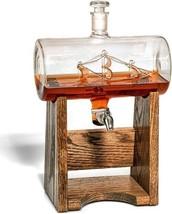 Bourbon Whiskey Decanter, 1150ml Liquor Dispenser for Rum & More, Nautic... - $308.06