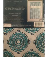 Ellery Homestyles 36L Tier and Valance Curtain Set Mellie Medallion Navy... - $19.79