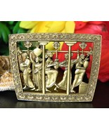Vintage Museum Fine Arts MFA Greek Roman Women Water Jars Brooch Pin - $38.95