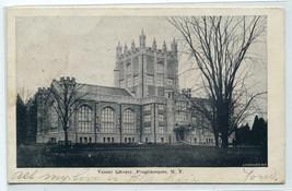 Vassar College Library Poughkeepsie New York 1906 postcard - $6.44