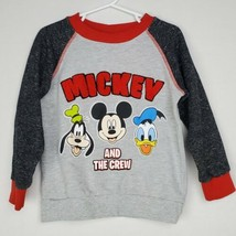 Disney Boys Mickey Mouse Sweatshirt 4T Gray Graphic Pullover Goofy Donal... - $19.99
