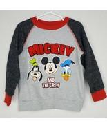 Disney Boys Mickey Mouse Sweatshirt 4T Gray Graphic Pullover Goofy Donald Shirt - $19.99