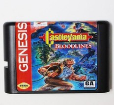 Castlevania Bloodlines NTSC-U 16 bit MD Game Card For Sega Mega Drive Ge... - $9.50