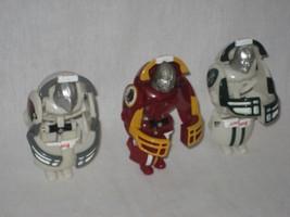 Helmet NFL Mini Robot Transformer Az Cardinals WA Redskins NY Jets Set of 3 - $12.82