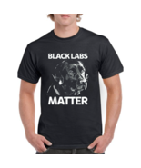 Labrador Dog Funny Black Labs Matter Gift T-Shirt Black S-5XL-Men's T-... - $21.99+