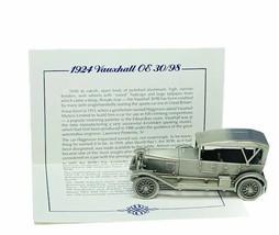 Danbury Mint classic car world pewter model coa vtg 1924 Vauxhall OE Eng... - $28.91