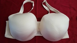 Cacique Womens Solid Ivory Cotton Blend Underwire Adjustable Padded Bra ... - $18.55