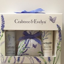 Crabtree & Evelyn Lavender Mini Gift Set Shower Gel and Lotion NEW - $27.99