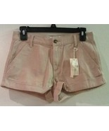 NWT FOREVER 21 I LOVE H81 Women's Cotton Cuffed Shorts 26 Beige Tan New - $11.95