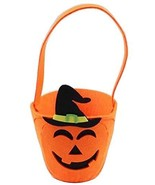 Set of 2 Halloween Kids Candy Bag Small Pumpkin Trick or Treating Candy Bag - $14.91