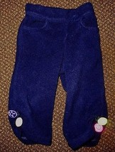 Gymboree Candy Shoppe Navy Fleece Pants Size 12-18 Months - $9.49