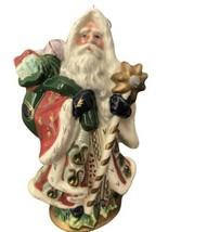Fitz and Floyd Florentine Santa Retired Annual Christmas Ornament 1998 # 19/512 - $28.70