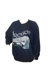 Vintage Jerzees Crewneck Sweatshirt Pullover 1990s Oregon Christmas Wint... - $29.39